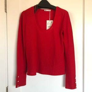 NWT- Red knit sweater